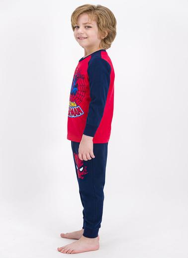 Spider-Man Spider Man Lisanslı Açık Kırmızı Erkek Çocuk Pijama Takımı Kırmızı